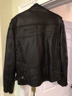 Harley Davidson protective padded leather motorcycle jacket. for Sale in Staunton, VA