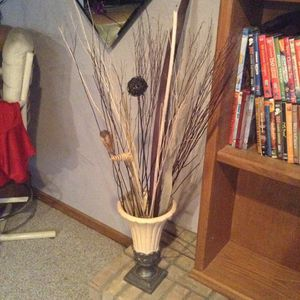Modern elegance decorative vase with black and cream branch decor $30 for Sale in Crestwood, IL