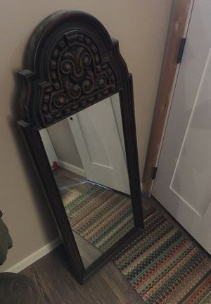 Antique solid wood frame mirror for Sale in Arvada, CO