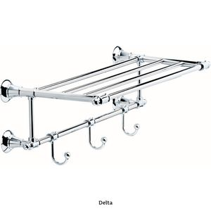 Delta 24 in. Towel Shelf with 3 Towel Hooks in Polished Chrome for Sale in Dallas, TX
