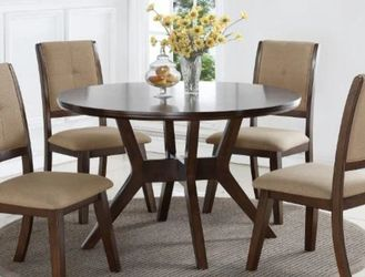 Barney Brown Round Dining Set by Crown Mark for Sale in Bailey's Crossroads,  VA