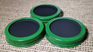 Chalkboard 3 Mason Jar Regular Mouth Lid/Ring J.D Green Powder Coat Finish for Sale in Montezuma, OH