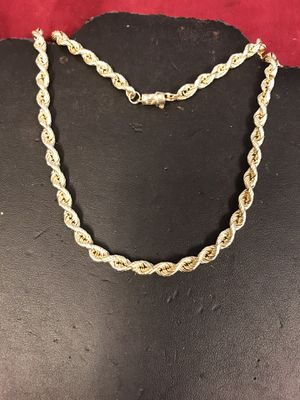 14 K gold rope chain for Sale in Riverview, MI