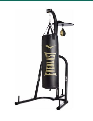 Everlast punching bag, speed bag and stand for Sale in Burlington, MA