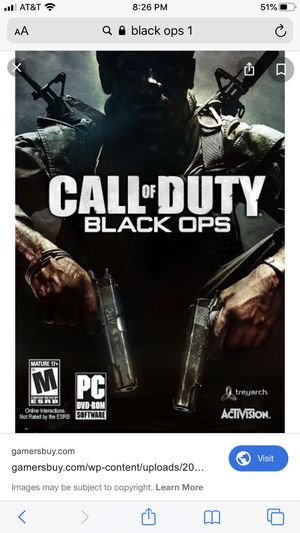 Anyone have an old ps3 account with Bo1? for Sale in National City, CA