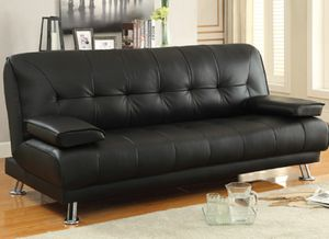 Black futon sofa for Sale in San Leandro, CA