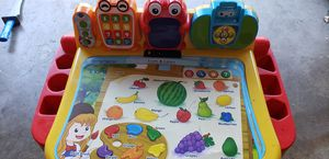 Kids toddler's v tech learning desk with chair. Sings and talks for Sale in San Jose, CA