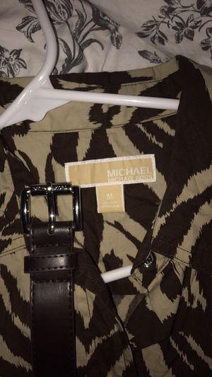 Michael Kors zebra print shirt dress w/ belt for Sale in Alexandria, VA