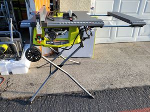 RYOBI 15 Amp 10 in. Expanded Capacity Table Saw With Rolling Stand for Sale in Westminster, CA