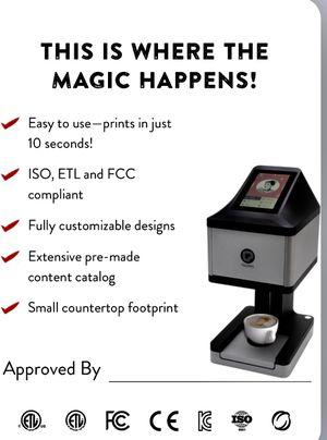 Ripple Maker Ripples Coffee Latte Cappuccino Foam Printer for Sale in St. Petersburg, FL