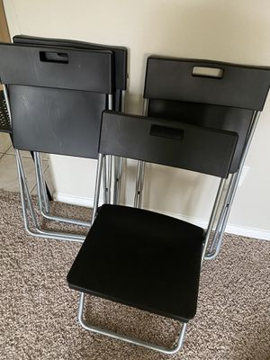 4 folding chairs for Sale in Sugar Land, TX