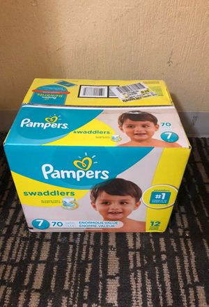 Pampers size 7 (70ct unopened) for Sale in Spring, TX