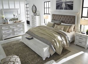 Queen or King bedroom set - bed, dresser, mirror, nightstand FREE SAME DAY DELIVERY for Sale in Rosenberg, TX