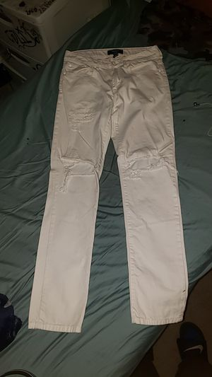 Forever 21 White Ripped Jeans for Sale in La Mesa, CA