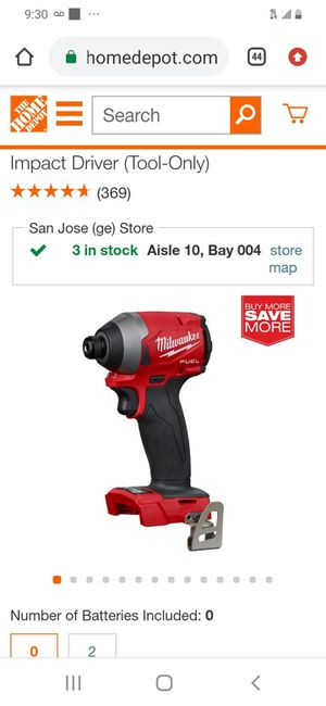 Milwaukee m18 fuel brushless 3rd generation impact drill ( tool only for Sale in San Jose, CA