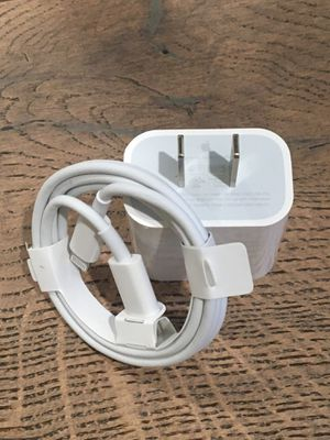 New 18W OEM Apple fast charger and cable Set for Sale in Azusa, CA