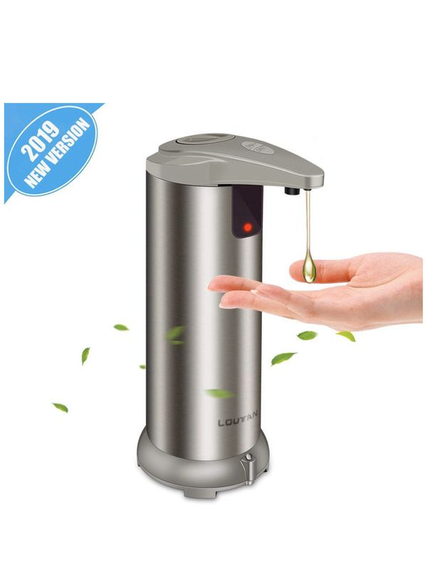 Automatic soap Dispenser, Stainless Steel contactless Infrared Motion Sensor, Waterproof Base, Suitable for Kitchen and Toilet