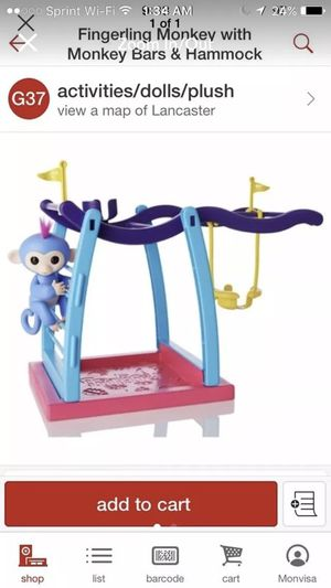 New wowee Fingerlings monkey bar and swing set for Sale in Blacklick, OH