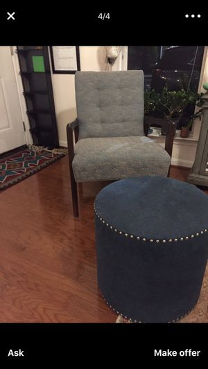 Chair with ottoman for Sale in Ashburn, VA