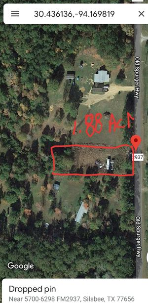 Land 1.88 Acres for Sale in Silsbee, TX