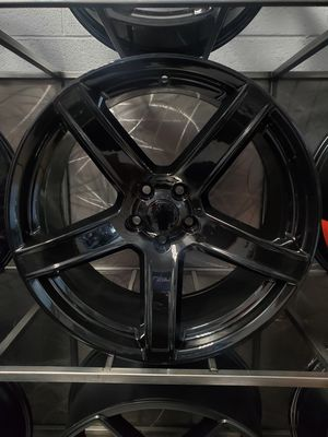 20x9.5 and 20x10.5 gloss black hellcat wheels for charger challenger magnum 5x115 rim wheel tire shop for Sale in Tempe, AZ