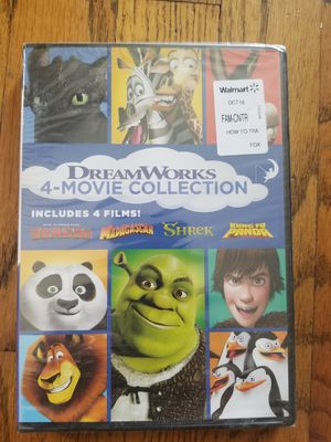 Brand New DreamWorks 4-Movie DVD Collection for Sale in Morgan Hill, CA