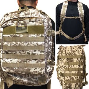 NEW! Camouflage Tactical military style Backpack molle desert camping hiking fishing work gym flag school book travel bag for Sale in Los Angeles, CA