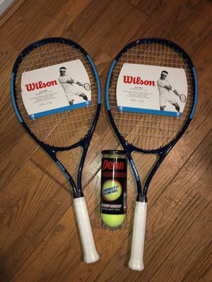 Two New Wilson Tennis Racquets + Balls for Sale in Gaithersburg, MD
