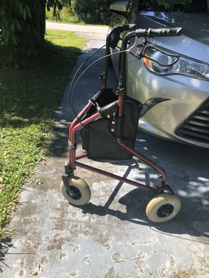3-Wheel Walker with Bag for Sale in Port St. Lucie, FL