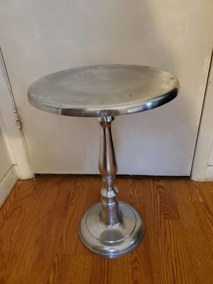 Silver round table for Sale in Lake Worth, FL