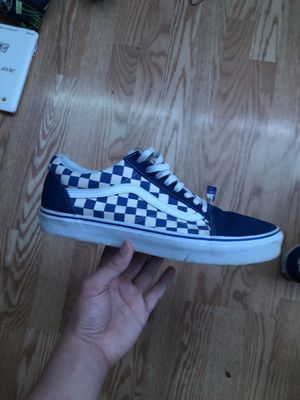 Men's Limited addition blue and white Checkered vans size 11 for Sale in Modesto, CA