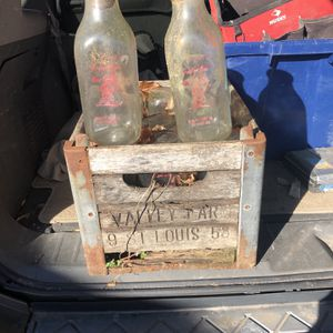 Milk Bottles And Crate for Sale in Westlake, TX