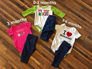 3 onesies w/pants for Sale in Peyton, CO