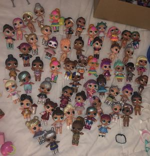 LOL big sisters 50+ and LOL pets 20+ , Little sisters 30+ and cups/bottles/purses/accessories for Sale in Aspen Hill, MD