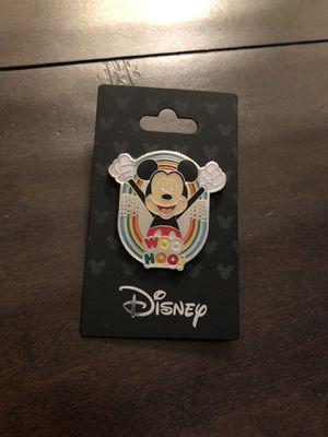 "Brand new, Mickey Mouse ""Woo Hoo"" Rainbow🌈 Pride Monogram International Disney Pin for Sale in Corona, CA"