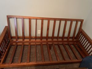 Mission style futon and matching tv stand for Sale in Versailles, KY