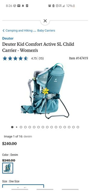 Deuter Kid Comfort Active SL for Sale in Laurel Park, NC