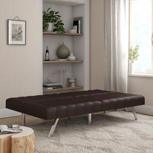 Futon sofa bed dark brown for Sale in Houston, TX