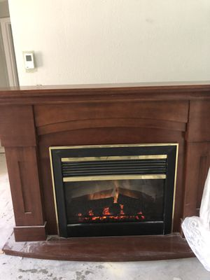 Fire Place 66inch mantle with remote control for Sale in Clearwater, FL