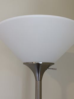 Metal Floor Lamp, Silver for Sale in Gaithersburg,  MD