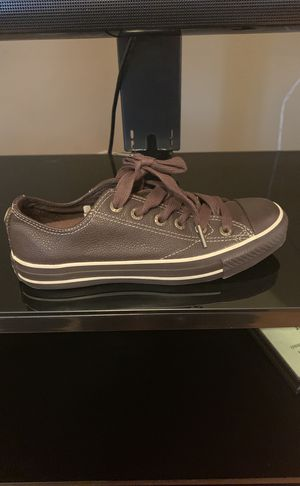 Brown leather Chuck Taylor Sneakers women's size 5 for Sale in St. Louis, MO