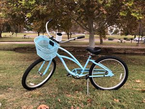"""Teal Electra Beach Cruiser 1, with removable basket and cup holder- 24 in"""" for Sale in Scottsdale, AZ"""