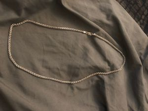 silver rope chain .925 real silver not plated for Sale in Dana Point, CA