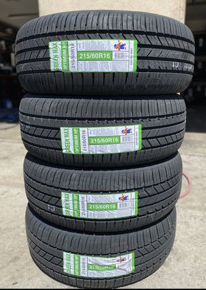 215/60R16 Greenmax $280 Four Brand New Tires ( Installation & Balancing Included ) for Sale in Rialto, CA