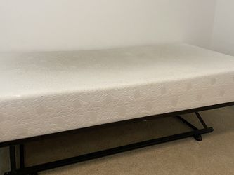 Twin Memory Foam Mattress with Pop Up Trundle Bed... $175.00 OBO for Sale in Lutz,  FL