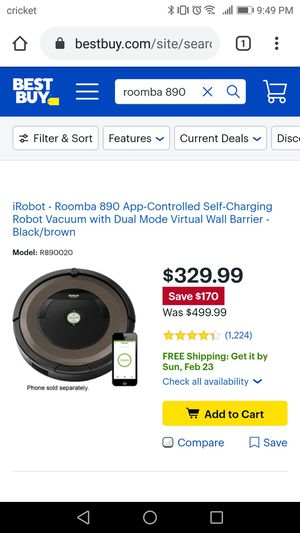 Roomba vacuum 890 👉NEW👈 for Sale in Sanger, CA