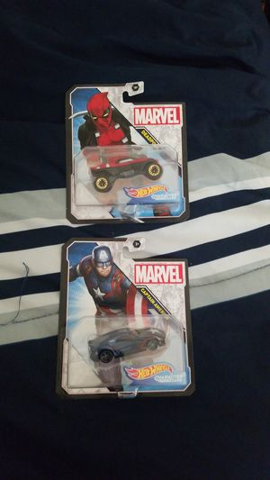 Marvel Hot wheels deadpool and Captain America for Sale in Alhambra, CA