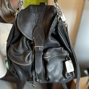Black Leather Rugby Brand Backpack for Sale in Seattle, WA