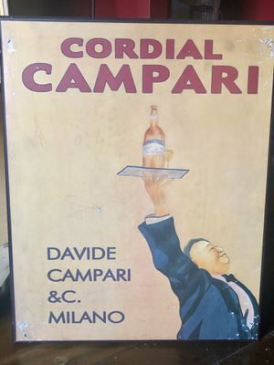 Wooden Campari Wall Art for Sale in Evansville, IN