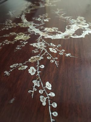 Antique Chinese Rosewood mother of pearl table for Sale in Tampa, FL